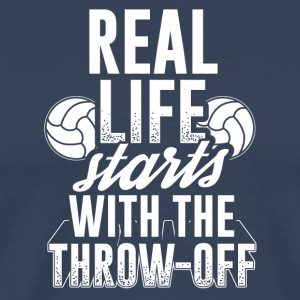 Handball REAL LIFE STARTS WITH THE THROW OFF - Men's Premium T-Shirt