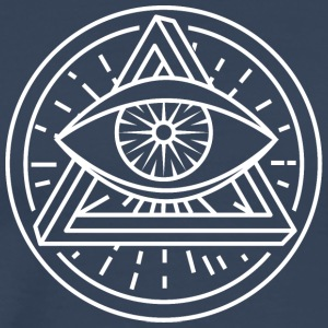 Eye of Providence - Optical Illusion - Men's Premium T-Shirt