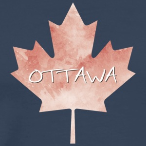 Maple Leaf Ottawa - Premium T-skjorte for menn
