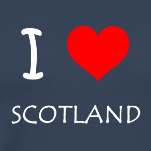 I Love SCOTLAND - Premium T-skjorte for menn