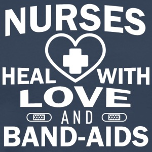 Nurses heal with love and plasters. - Men's Premium T-Shirt