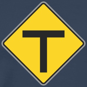 Road Sign T geel - Mannen Premium T-shirt
