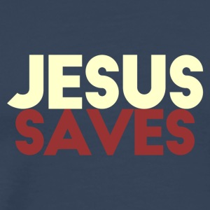 Jesus Saves - Mannen Premium T-shirt