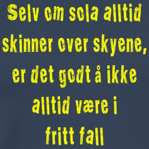 Fritt fall gul - Premium T-skjorte for menn