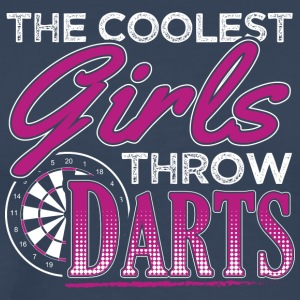 THE COOLEST GIRLS THROW DARTS - Men's Premium T-Shirt