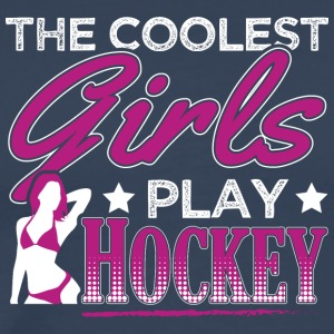 Fedeste GIRLS PLAY HOCKEY - Herre premium T-shirt