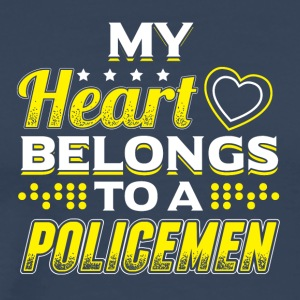 My Heart Belongs To A Policeman - Men's Premium T-Shirt