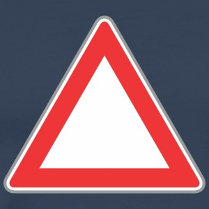 Road Sign Up driehoek - Mannen Premium T-shirt