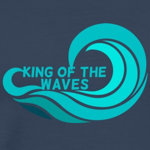 Surfer / Surfing: KIng of the waves - Men's Premium T-Shirt