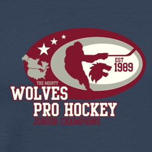 wolves pro hockey 01 - Men's Premium T-Shirt