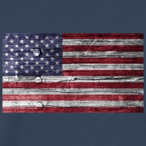 America Flag Wood Look - Premium-T-shirt herr