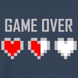 game_over_tshirt_vector_by_warumono1989-d7tn9e8 - Premium T-skjorte for menn