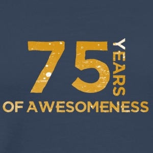 75th Anniversary: ​​75 Years Of Awesomeness - Premium T-skjorte for menn