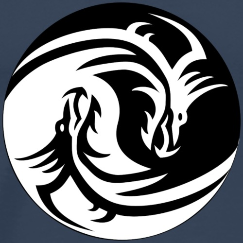 Yin und Yang Drachen - Männer Premium T-Shirt