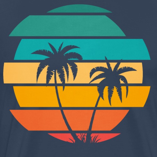 Tropische Insel Illustration - Männer Premium T-Shirt