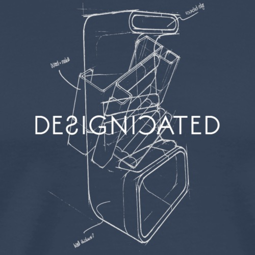 Designicated white - Männer Premium T-Shirt