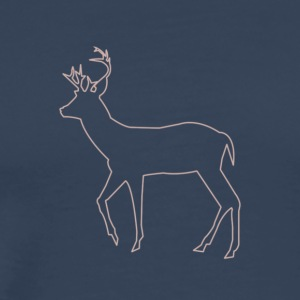 Silhouette of deer - Men's Premium T-Shirt