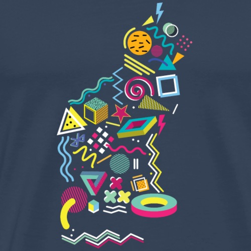 Memphis Style 80s Cat - Men's Premium T-Shirt