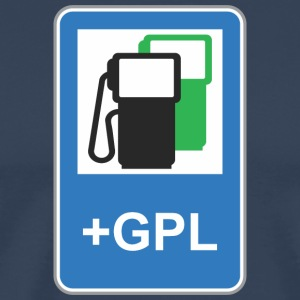 Road sign gas station green gpl - Men's Premium T-Shirt