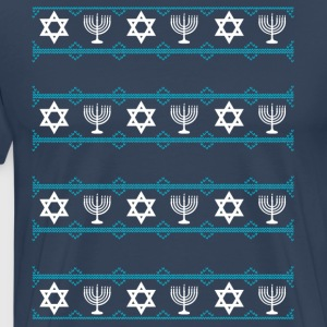 jewish hanukkah Chrisnukkah light Chandelier rating m - Men's Premium T-Shirt