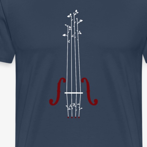 Viool Design - Mannen Premium T-shirt