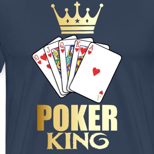 Rey del Póker online - Camiseta premium hombre