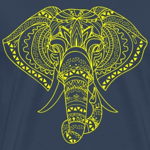 Elephant Head gul - Premium T-skjorte for menn