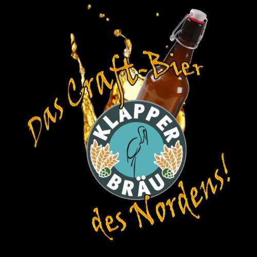 Klapper Braeu - Craft-Bier - Männer Premium T-Shirt