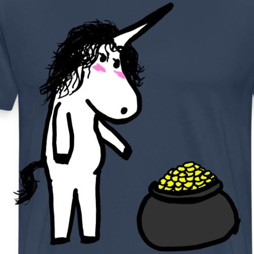 Einhorn Gold - Männer Premium T-Shirt
