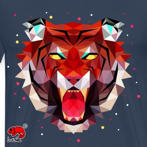 tiger polygonal - Maglietta Premium da uomo