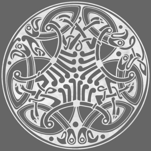 Old Celtic Birds Ornament Mandala 2 - Männer Premium T-Shirt