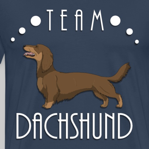Team Dachshund - Longhaired Red and Tan - T-shirt Premium Homme
