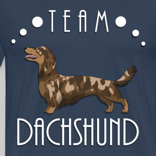 Team Dachshund - Longhaired Red Dapple - T-shirt Premium Homme