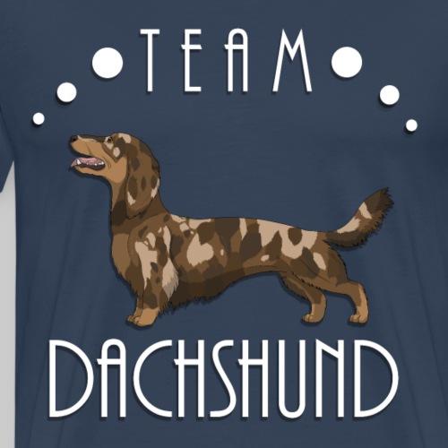 Team Dachshund - Longhaired Red Dapple - T-shirt Premium Homme