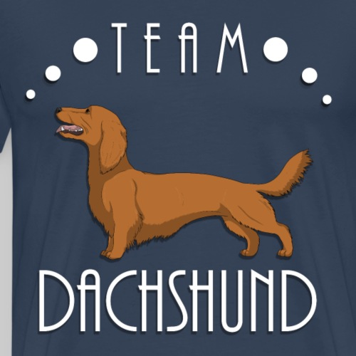 Team Dachshund - Longhaired Red - T-shirt Premium Homme