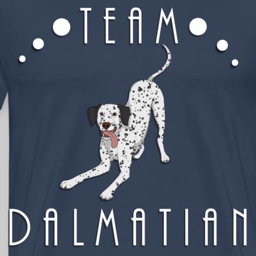 Team Dalmatian - Black and White - T-shirt Premium Homme