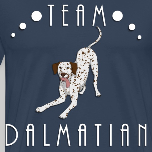 Team Dalmatian - Liver and White - T-shirt Premium Homme
