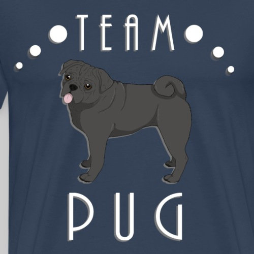 Team Pug - black - T-shirt Premium Homme