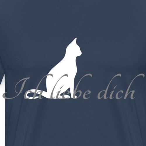 Ich liebe dich - Chat - T-shirt Premium Homme