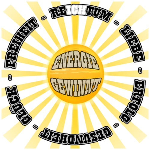 ENERGIE GEWINNT - Sonnenrad - Männer Premium T-Shirt