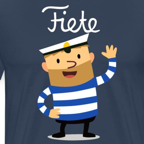 Großer Fiete Logo weiß - Männer Premium T-Shirt