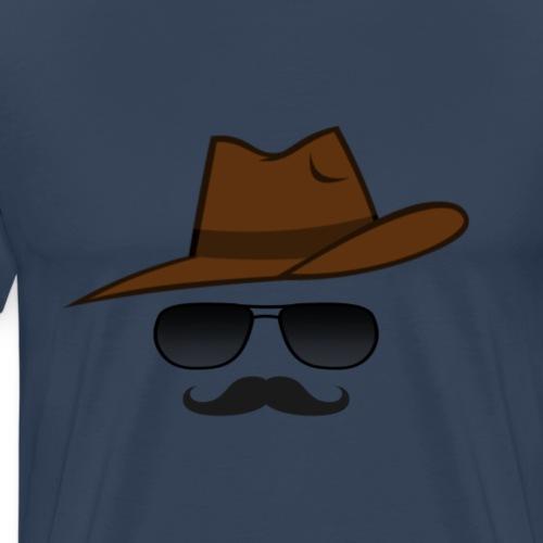 Cowboy western mann men - Männer Premium T-Shirt