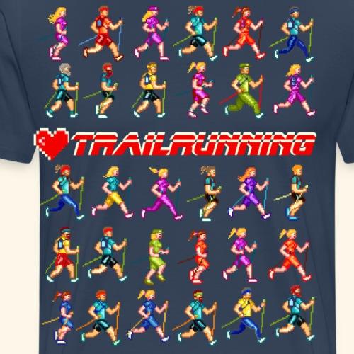 LOVE TRAILRUNNING PIXEL - Maglietta Premium da uomo