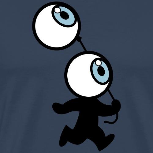 Mr Eyeball And Balloon by Cheerful Madness!! - Men's Premium T-Shirt