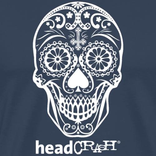 Skull & Logo white - Männer Premium T-Shirt