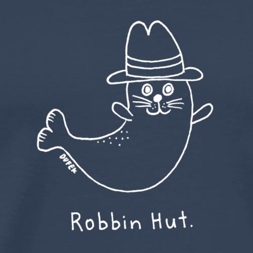 Robbin Hut (weiss) - Männer Premium T-Shirt