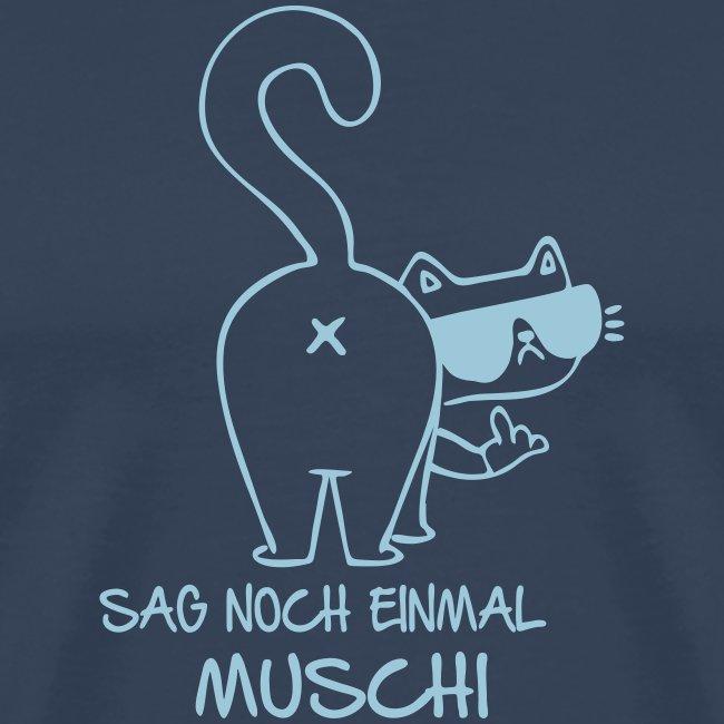 Vorschau: kater katze mooning finger - Männer Premium T-Shirt