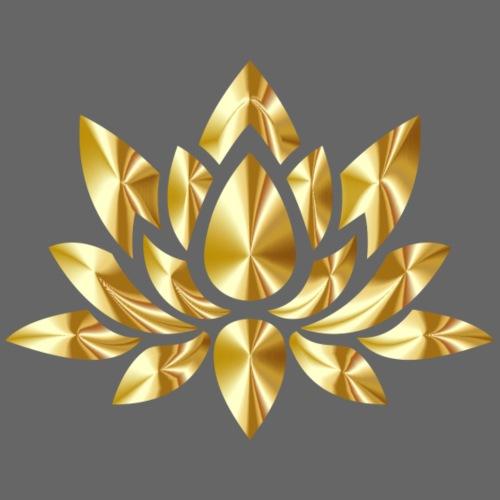 Lotusblume gold - Männer Premium T-Shirt