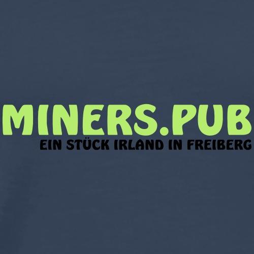Miners Logo grün schwarz - Männer Premium T-Shirt