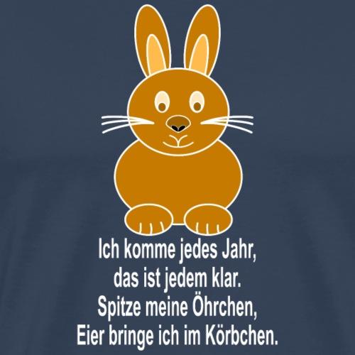 Hase mit weisser Schrift - Männer Premium T-Shirt